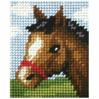 Orchidea My First Embroidery Needlepoint Kit - Friendly Foal