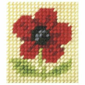 Orchidea My First Embroidery Needlepoint Kit - Poppy