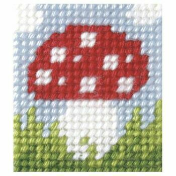 Orchidea My First Embroidery Needlepoint Kit - Small Toadstool