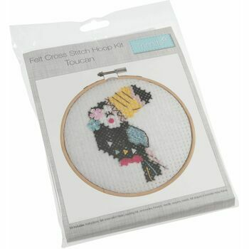 Trimits Felt Cross Stitch Hoop Kit - Toucan