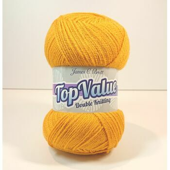 Top Value Yarn - Mustard Yellow - 8462 (100g)