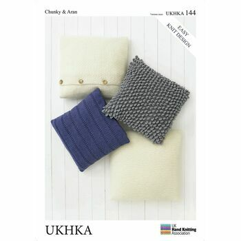 UKHKA Pattern Chunky & Aran n.144: Cushion Covers