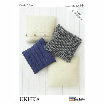 UKHKA Pattern Chunky & Aran n.144: Cushion Covers