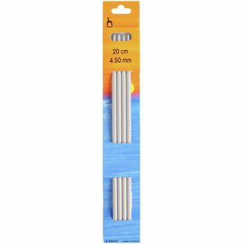 Pony Double Ended Knitting Needles - 20cm x 4.50mm (Set of Four)