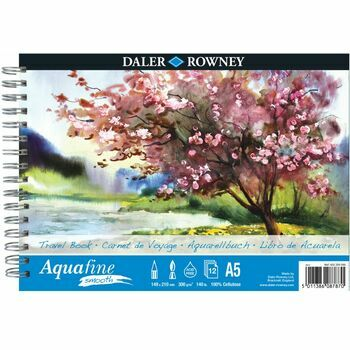Daler Rowney Aquafine Smooth Watercolour Travel Book (A5)