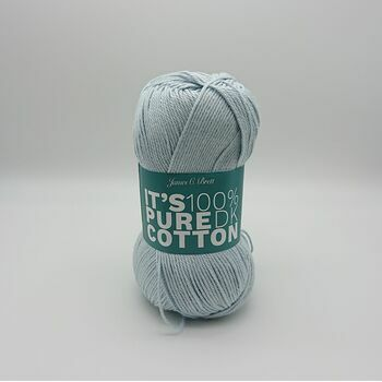 James C Brett It's Pure Cotton DK Yarn - Light Blue - 100g