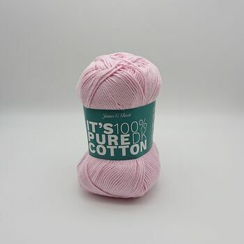 James C Brett Its Pure Cotton DK Yarn - Pink - 100g