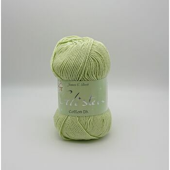 James C Brett Glisten DK Yarn - Pale Lime - 100g