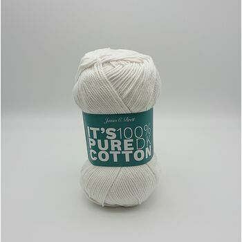 James C Brett It\'s Pure Cotton DK Yarn - Ivory White - 100g