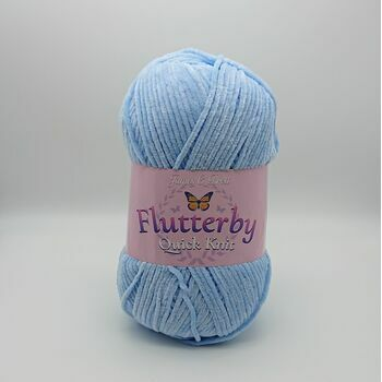 James C Brett Flutterby Quick Knit - Baby Blue - 100g