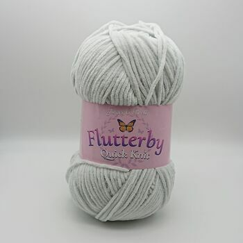 James C Brett Flutterby Quick Knit Yarn - Duckegg - 100g