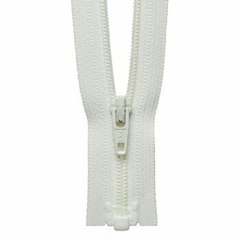 YKK Lightweight Nylon Open End Zip - Cream (25cm)