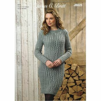 Brett Pattern Aran Sweater/Dress JB625
