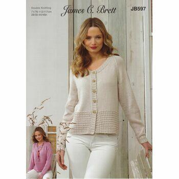 Brett Pattern DK Cardigan & Sweater JB597