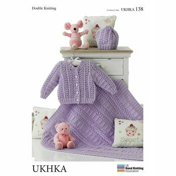 UKHKA Pattern 138: Cardigan, Hat and Blanket