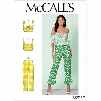 McCalls Pattern M7937 Misses Tops and Pants