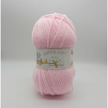 Super Soft Baby Aran Knitting Yarn: Baby Pink: BA6: 100g