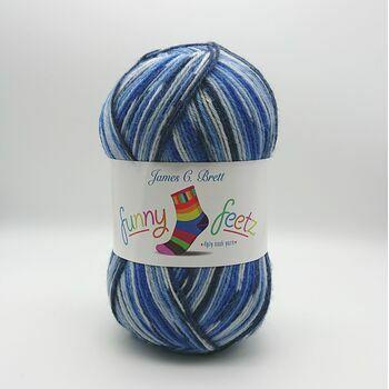 Funny Feetz: 4Ply Sock Yarn: FZ02: 100g