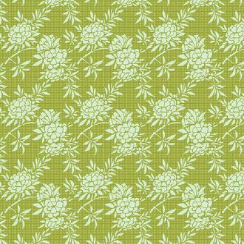 Tilda Quilt Collection: The Harvest Collection: Flower Bush Green
