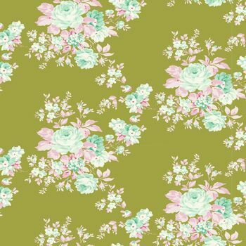 Tilda Quilt Collection: The Harvest Collection: Autumn Rose Green