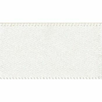 Berisfords: Double Faced Satin Ribbon: 70mm: Bridal White