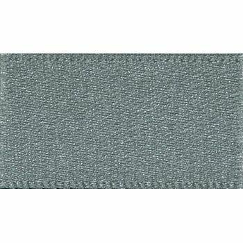 Berisfords: Double Faced Satin Ribbon: 25mm: Smoked Grey