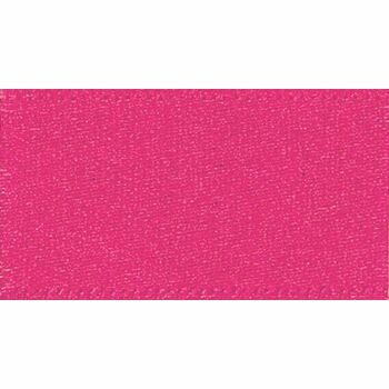 Berisfords: Double Faced Satin Ribbon: 25mm: Shocking Pink