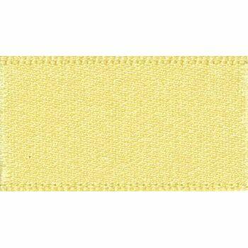 Berisfords: Double Faced Satin Ribbon: 25mm: Lemon