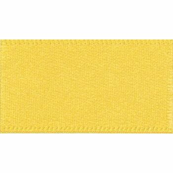 Berisfords: Double Faced Satin Ribbon: 25mm: Yellow
