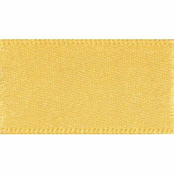 Berisfords: Double Faced Satin Ribbon: 25mm: Gold