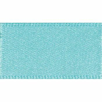 Berisfords: Double Faced Satin Ribbon: 25mm: New Turquoise