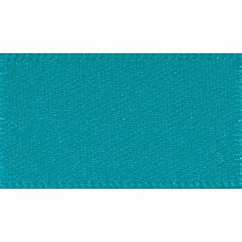 Berisfords: Double Faced Satin Ribbon: 25mm: Malibu Blue