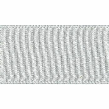 Berisfords: Double Faced Satin Ribbon: 25mm: Silver Grey