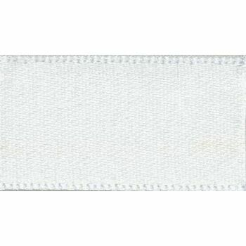 Berisfords: Double Faced Satin Ribbon: 25mm: White