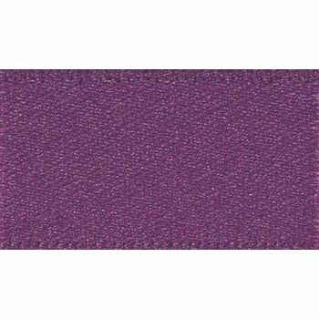 Berisfords: Double Faced Satin Ribbon: 15mm: Plum