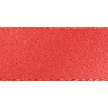 Berisfords: Double Faced Satin Ribbon: 15mm: Coral