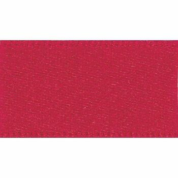 Berisfords: Double Faced Satin Ribbon: 15mm: Red