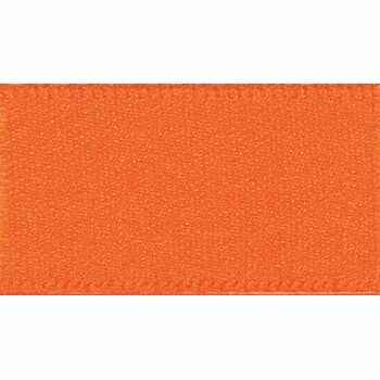 Berisfords: Double Faced Satin Ribbon: 15mm: Orange Delight