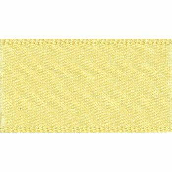 Berisfords: Double Faced Satin Ribbon: 15mm: Lemon