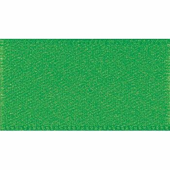 Berisfords: Double Faced Satin Ribbon: 15mm: Emerald