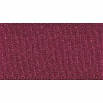Berisfords: Double Faced Satin Ribbon: 15mm: Burgundy