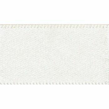 Berisfords: Double Faced Satin Ribbon: 15mm: Bridal White