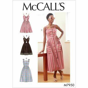 MCall's Pattern M7950: Misses\' Dresses