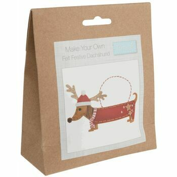 Trimits Felt Decoration Kit - Festive Dachshund
