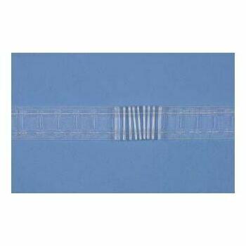 "Hallis Translucent Curtain Net Tape 50mm (2""): Per Metre"