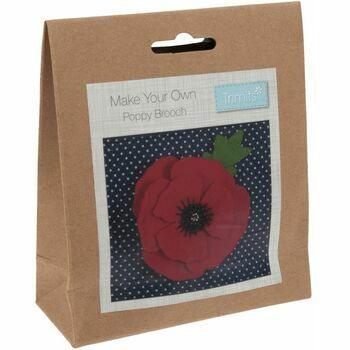 Trimits Poppy Brooch Felt Decoration Kit