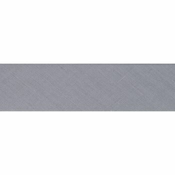 Essential Trimmings: Bias Binding: Polycotton: 25mm: Pale Grey