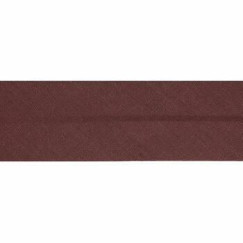 Essential Trimmings Polycotton Bias Binding - 50mm (Dark Tan) - Per Metre