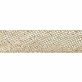 Essential Trimmings: Bias Binding: Polyester: Metallic: 2.5m x 15mm: Gold