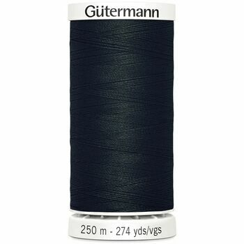Gutermann: Sew-All Thread: 250m: Black (000)